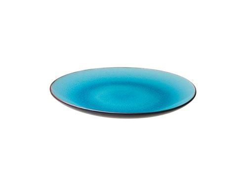 Asia Bord Ø26cm Turquoise ( Set van 4 )