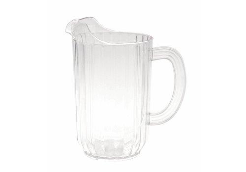 Kan 1 Liter - Ribbel Polycarbonaat - ( Set van 6 )