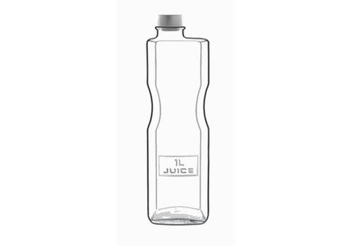 Fles 1 Liter met Dop Optima ( Set van 6 )