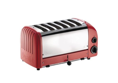 Vario Broodrooster 6 sleuven Rood 60154