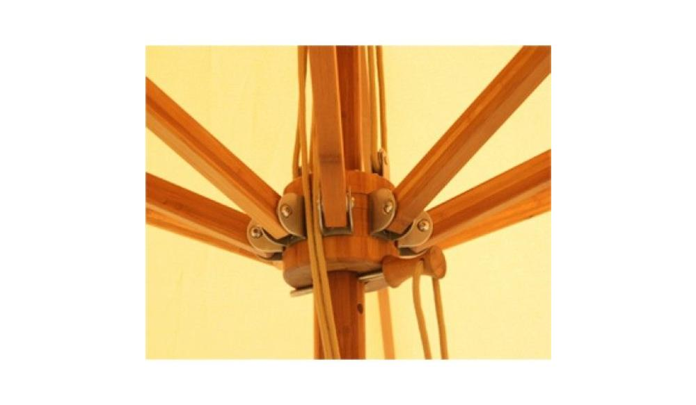 Parasol Levante | 3,5 meter ⌀ | Harvest Wheat | Spuncrylic