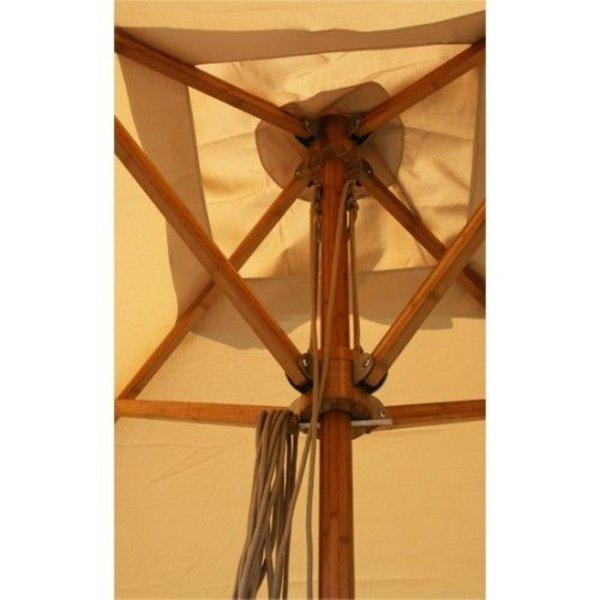 Bambrella Bambrella parasol Levante 3,5m rond Spuncrylic Harvest Wheat