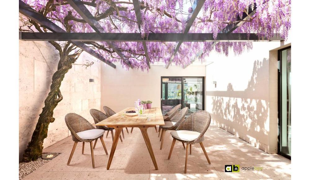 Dining tuinstoel Fleur   Bruin
