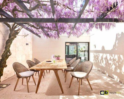 Dining tuinstoel Fleur | Bruin