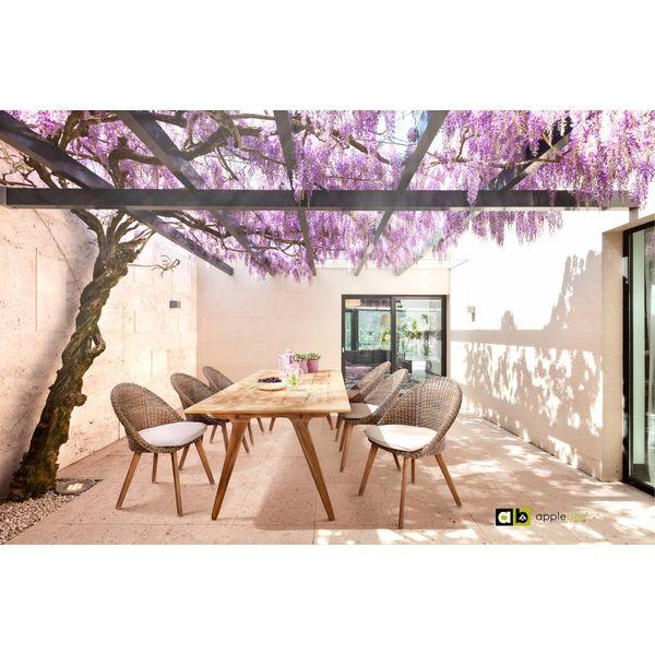 AppleBee tuinmeubelen Dining tuinstoel Fleur | Bruin