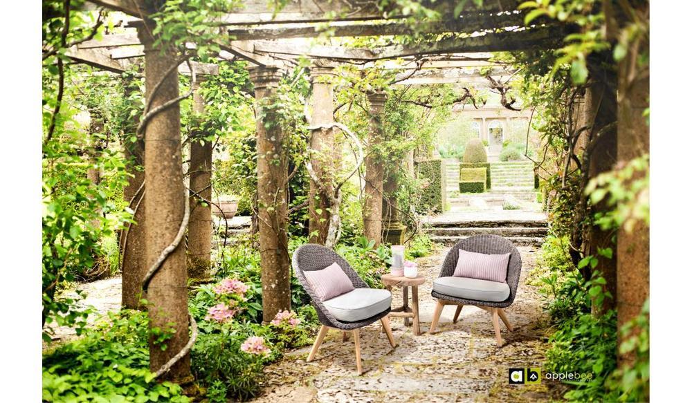 Loungestoel Fleur | Bruin