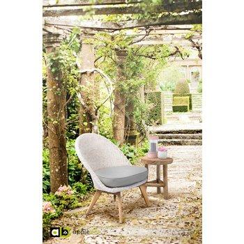 AppleBee tuinmeubelen Loungestoel Fleur | Antique wit