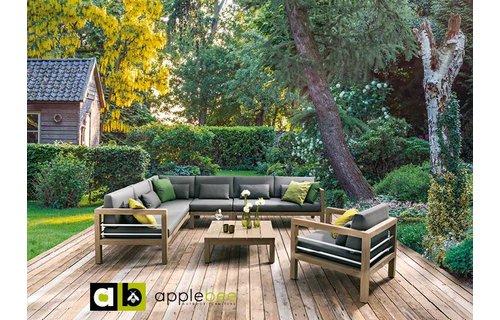 Apple Bee tuinmeubelen Del Mar loungeset | Opstelling 1