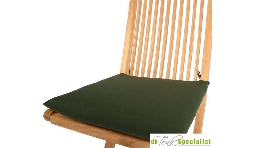 Tuinstoelkussen 41 x 38 groen (SALE ITEM)