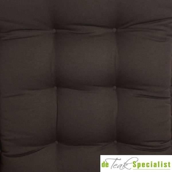 De Tuinkussenspecialist Hoge rug kussen zwart (SALE ITEM)