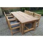 GardenTeak Robusta 240 x 100 met 6 Classic stoelen