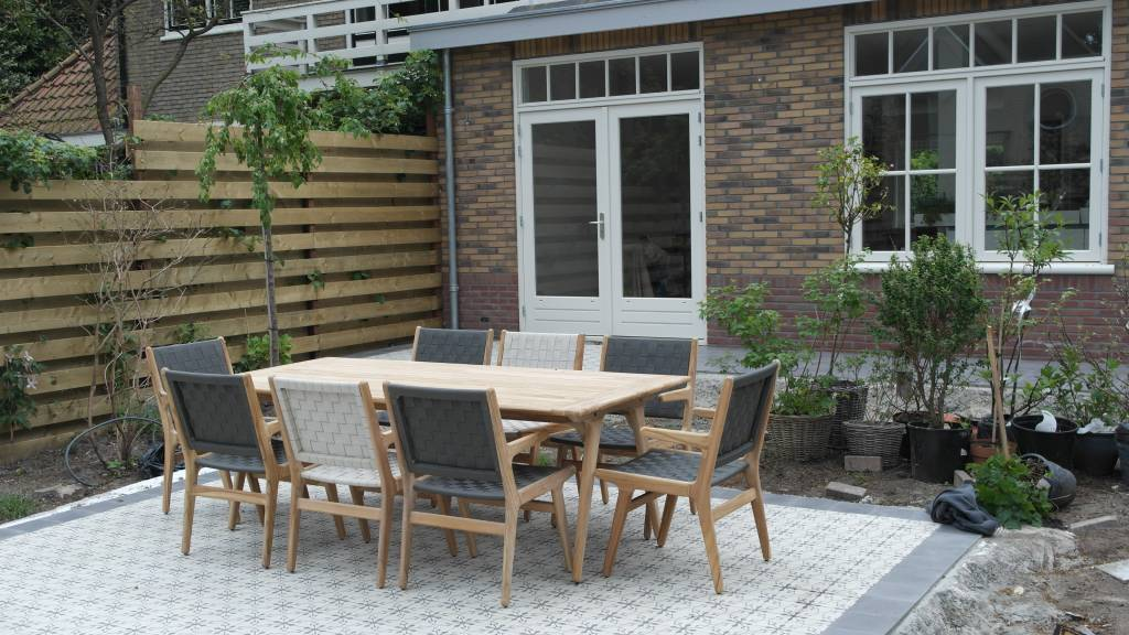 Applebee tuinmeubelen juul tafel 220 met juul dining stoel de grootste collectie teak - Tuin meubilair ...
