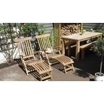 Garden Teak Deckchair   Nu extra scherp geprijsd en met gratis kussen!