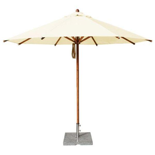Bambrella Parasol Levante | 3 meter ⌀ | Nature | Polyester