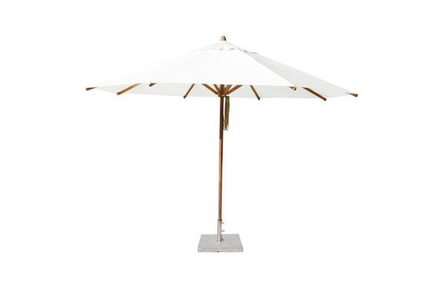 Bambrella Parasol Levante | 4 meter ⌀ | Ice White | Spuncrylic