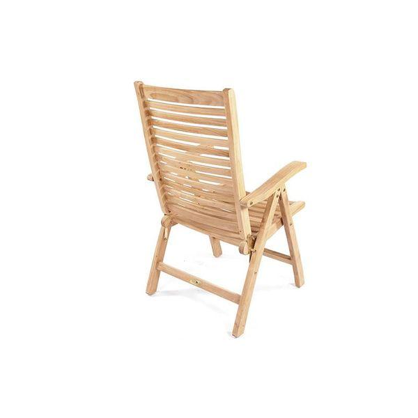 GardenTeak Teak verstelbare stoel Houston