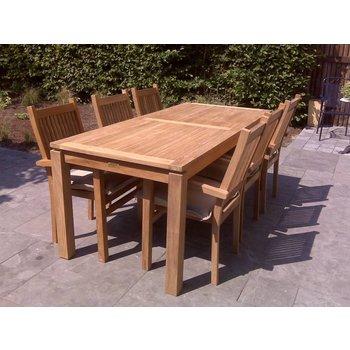 GardenTeak Teak tuinset Albany 220 met Kellas stoelen