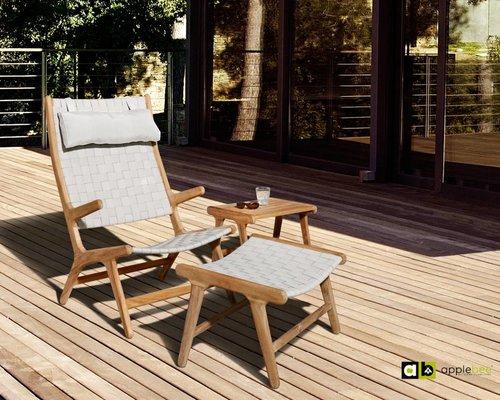 Loungestoel Juul | Hoge rug | Nature