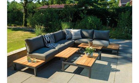 SUNS tuinmeubelen Loungeset Memphis | Mat royal grijs