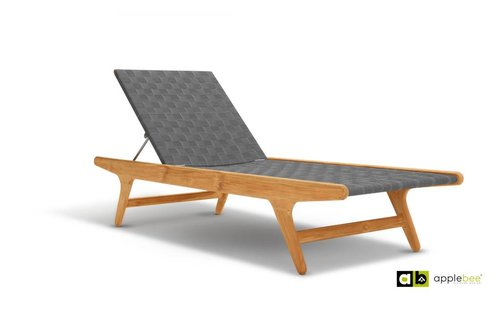 Apple Bee tuinmeubelen Juul Sunlounger - Pavement