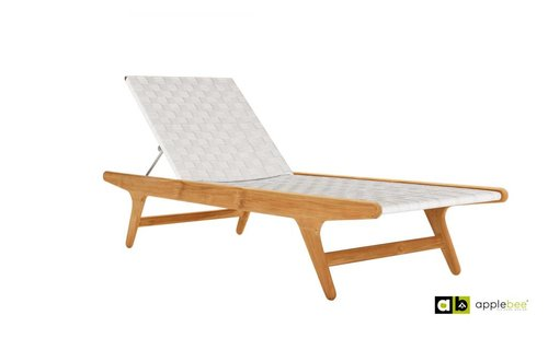 Apple Bee tuinmeubelen Juul Sunlounger - Natural