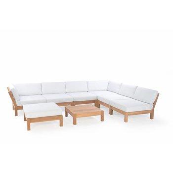 Garden Teak Coffee Bay Lounge - Set 1