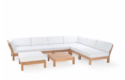 Garden Teak Coffee Bay Lounge | Set 1