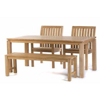 Garden Teak Tuintafel Albany 180 met Comfort dining stoelen en Sita bank 150