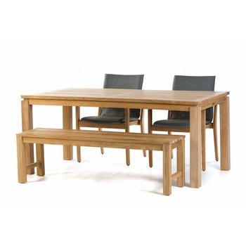 Garden Teak Tuinset Albany 180 cm met Verona stoelen en Sita 150 cm bank