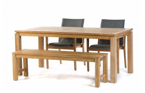 Garden Teak Teak tuinset: Albany Tafel (180cm) | Verona stoelen | Sita Bank 150