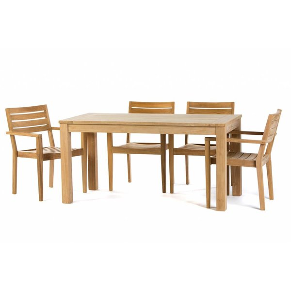 Garden Teak Tuinset James 160 x 80 cm | Set 1