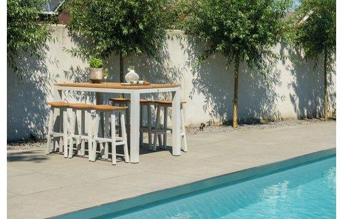 SUNS tuinmeubelen Bartafel Sense | 180 x 80 cm | Mat royal grijs