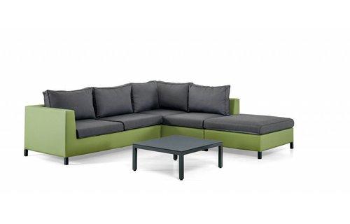 SUNS tuinmeubelen Loungeset Menor |  Groen-grijs | Set 1