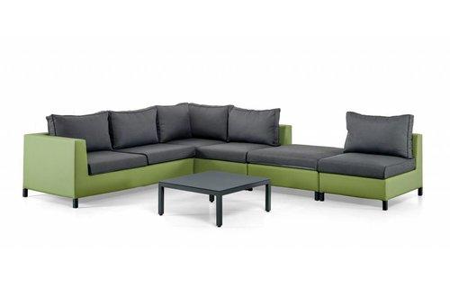 SUNS tuinmeubelen Loungeset Menor |  Groen-grijs | Set 2