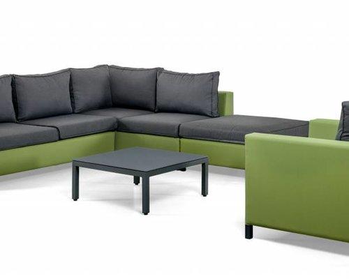 Loungeset Menor |  Groen-grijs | Set 4