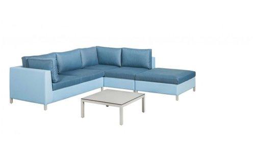 SUNS tuinmeubelen Loungeset Menor | Blauw-licht grijs | Set 6