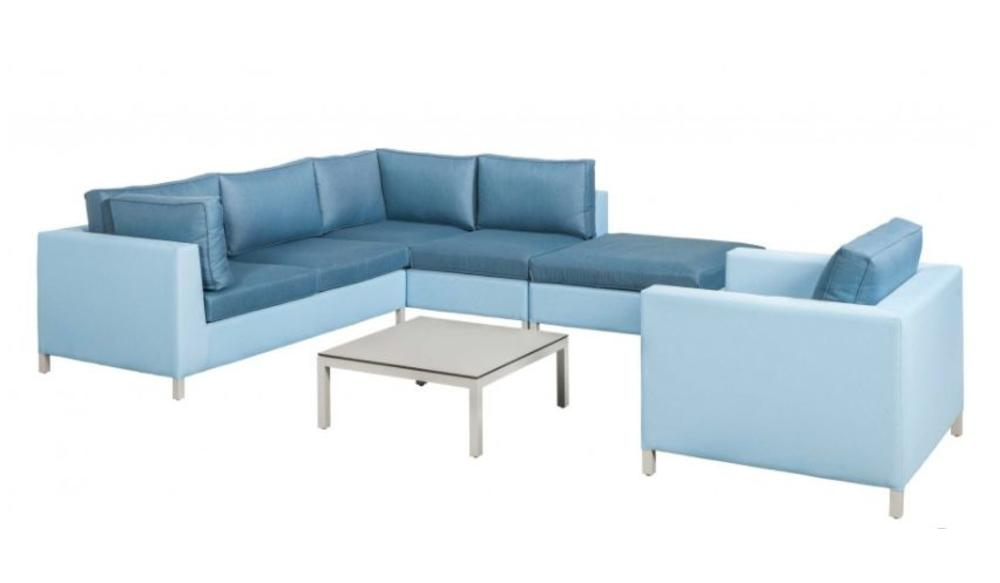 Loungeset Menor | | Blauw-licht grijs | Set 7