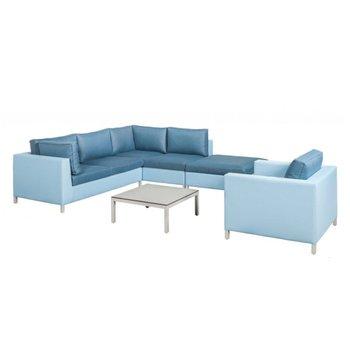 SUNS Loungeset Menor | blauw-licht grijs (set 7)
