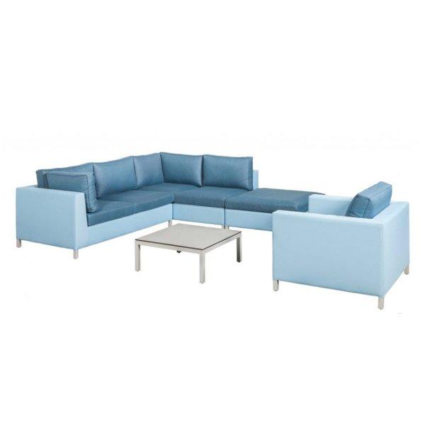 SUNS Loungeset Menor     Blauw-licht grijs   Set 7