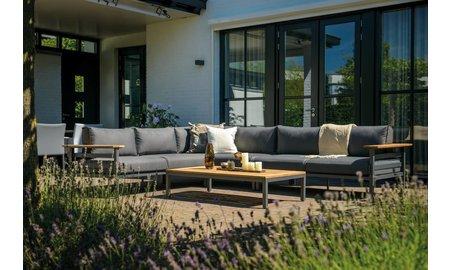 SUNS tuinmeubelen Loungeset Avelino | Mat royal grijs | Set 3