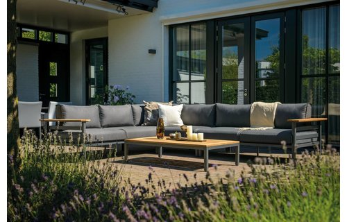 SUNS tuinmeubelen Loungeset Avelino | Mat royal grijs | Set 2
