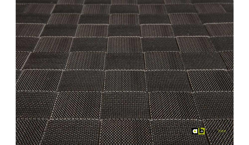 Tuinbank Square | 210 cm | Stone black