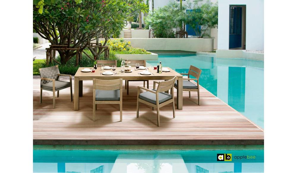 Dining tuinstoel square | Teak antique | Pavement