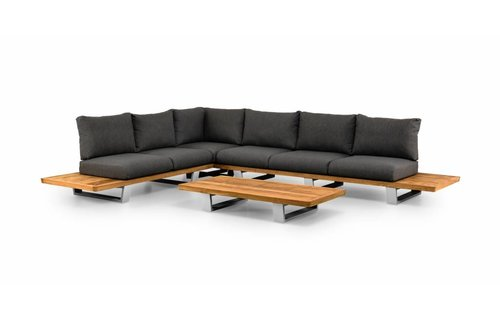 SUNS tuinmeubelen Loungeset Boston | Mat wit | Set 1