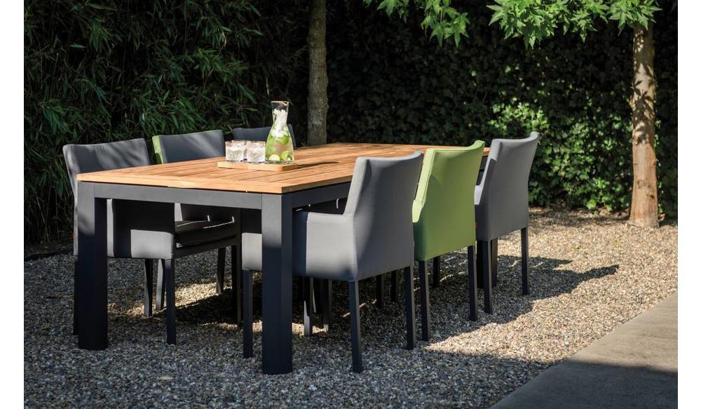 Dining tuinstoel Antas | zwart - grijs