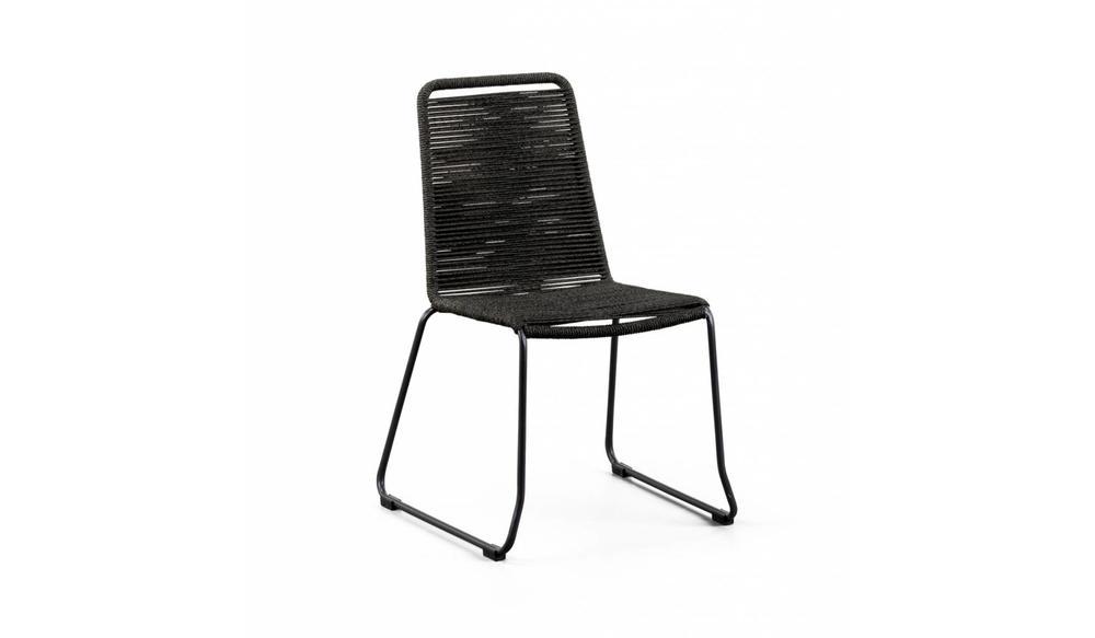 Stapelstoel Elos | Zwart - grijs