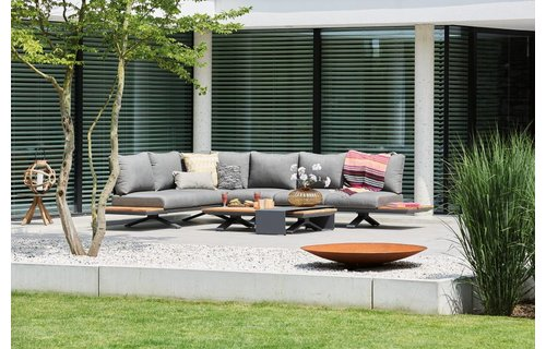 SUNS tuinmeubelen Loungeset Stockholm | Mat royal grijs | Set 1