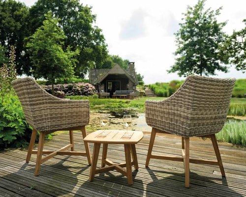 Dining tuinstoel Torano |Taupe | Teak-wicker