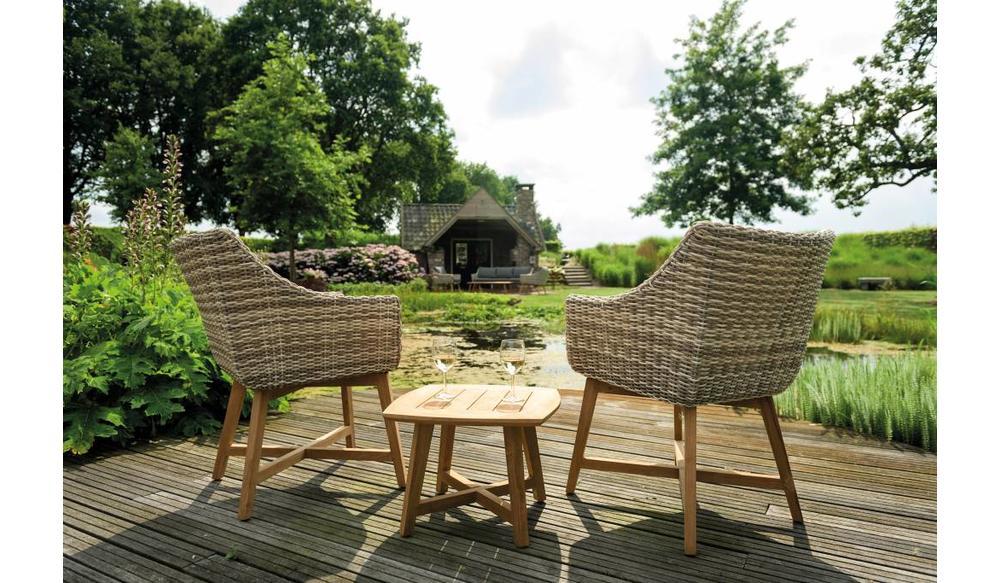 Dining tuinstoel Torano |Taupe | Mat royal grijs