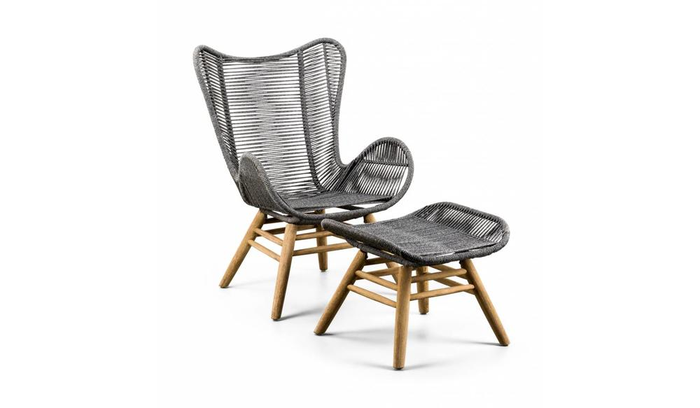 Rotan Lounge Stoel : Suns tuinmeubelen loungestoel kreta met hocker de tuinmeubel